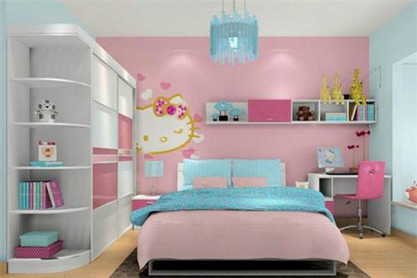 【女孩的房间】女童房间设计效果图大全图片