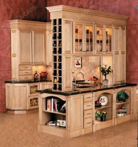 實木原色歐式櫥柜裝修效果圖